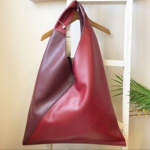 Free People Reversible Two tone Burgundy Handbag